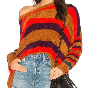 Free People L NWOT terra-cotta pullover
